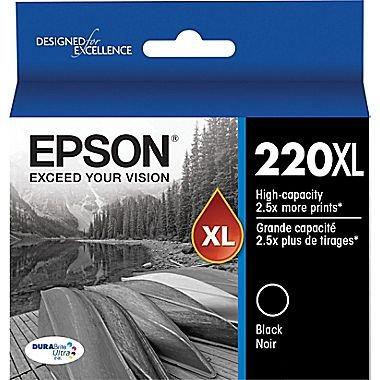 OEM Epson T220XL120 (220XL) High-Capacity DURABrite Ultra Black Ink Cartridge
