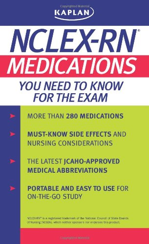 Kaplan Nclex-Rn: Medications You Need To Know For The Exam front-868255