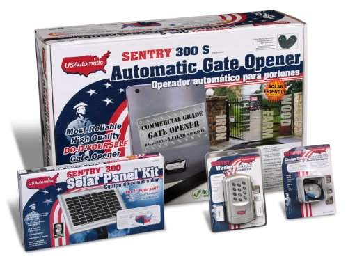 Images for USAutomtic 020340 Medium 300 Solar Charged Automatic Gate Opener Single Gate Deluxe Kit