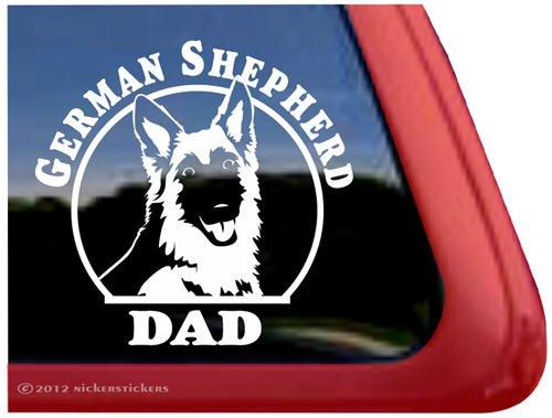 German Shepherd Dad ~ Gsd Dog Vinyl Window Decal Sticker front-490096