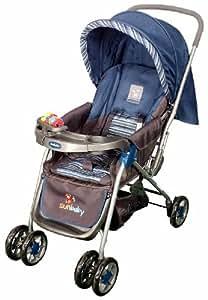 Sunbaby Maxima Stripe Stroller (Blue)