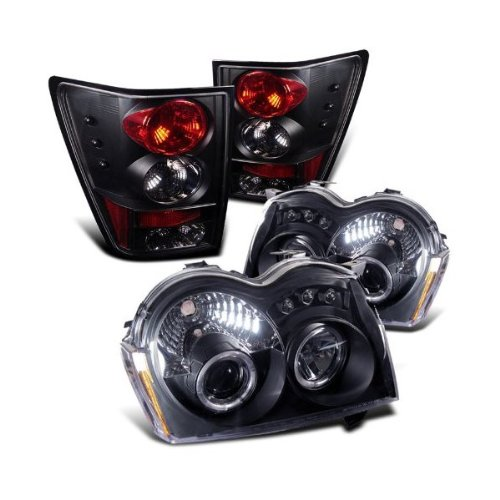 Rxmotoring 2005-2006 Jeep Grand Cherokee Halo Headlights Projector + Tail Light