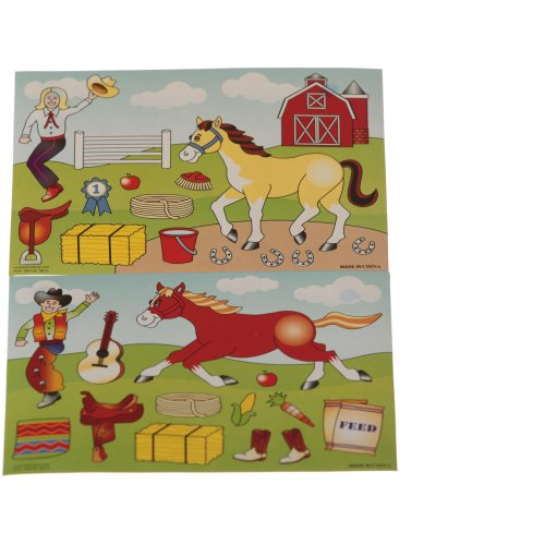 Make a Horse Stickers (12 ct) [Toy]