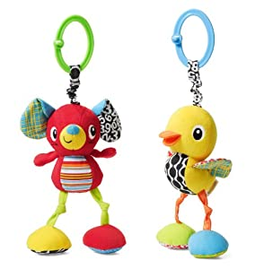 Infantino Mouse or Duck Jittery Pal Toy, Styles May Vary