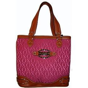 Women's Xoxo Purse Handbag Tote Country Club Signature Logo Pink