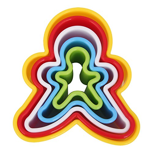 Crazy Egg Plastic Gingerbread Man Cookie Cutter Set (5 Pc) (Bread Cutter Round compare prices)