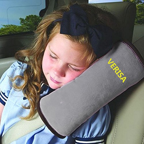 The Wolf Moon Seat Belt Gray Shoulder Headrest Neck Support Pillow Shoulder Pad for Car Safety Seatbelt (gray) (Auto Headrest Pillow compare prices)