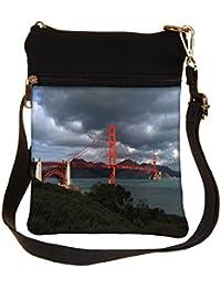 Snoogg Red Big Sealing Cross Body Tote Bag / Shoulder Sling Carry Bag