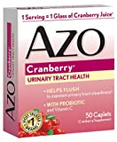 AZO All Natural Concentrated Cranberry Tablets, 50 Count (Pack of 3)