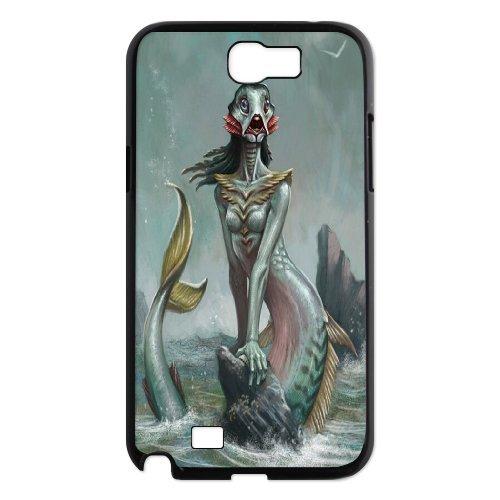 Samsung Galaxy Note 2 N7100 The Little Mermaid Phone Back Case Diy Art Print Design Hard Shell Protection Aq073023