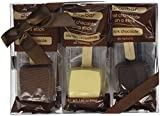Hot Chocolate on a Stick - 6 Pack Variety Gift Box - Dark, Milk, Vanilla White Chocolate