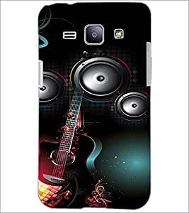 PrintDhaba Guitar D-4106 Back Case Cover for SAMSUNG GALAXY J1 (Multi-Coloured)
