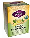 Yogi Tea Green Tea Ginger Lemon (1 pack include 17 Teabags)