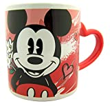 Disney's Mickey Mouse Ceramic Mug with Heart Handle, 15 oz