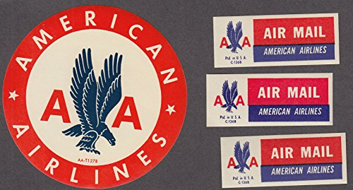 american-airlines-baggage-sticker-airline-air-mail-stickers-in-glassine-1950s