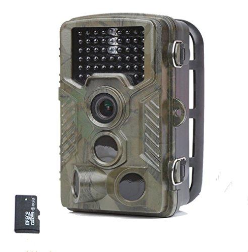 Laserbeak-Trail-Kamera-24-Zoll-LCD-12-Megapixel-1080P-HD-120-Grad-PIR-Linse-IP56-wasserdichte-20m-Triggerung-46-PC-IR-LEDs-fr-Nachtsicht-Jagd-Tier-Monitor-berwachungskamera-mit-8G-TF-Karte