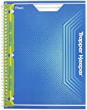 Mead Trapper Keeper Snapper Trapper Spiral Notebook, 1 Subject, Wide Ruled, Blue (72696)
