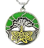 DaisyJewel Tree of Life Enamel Pendant Necklace
