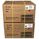 MRE 2019 Inspection Date Case A and Case B Bundle, 24 Meals Packed in 2016. Military Surplus Meal Ready to Eat. (Color: Brown, Tamaño: 18 x 10 x 16)