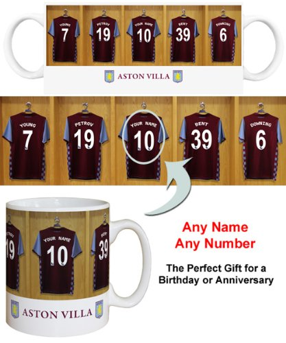 Aston Villa FC Personalised Mug - Football Gifts