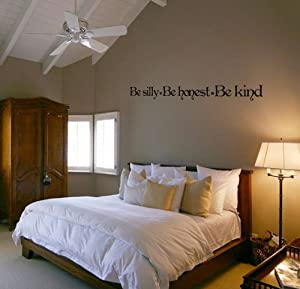 Be Silly, Be Honest, Be Kind - Ralph Waldo Emerson Quote - Vinyl Wall Art Decal Stickers Decor Graphics