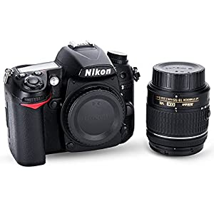 (2-Pack) JJC Body Cap and Rear Lens Cap Kit for Nikon DSLR Cameras + Nikon F Mount Lenses, Upgrade Luxury Version