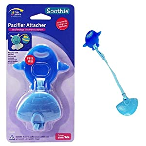 Soothie Pacifier Attacher - Blue Penguin with Igloo Clip