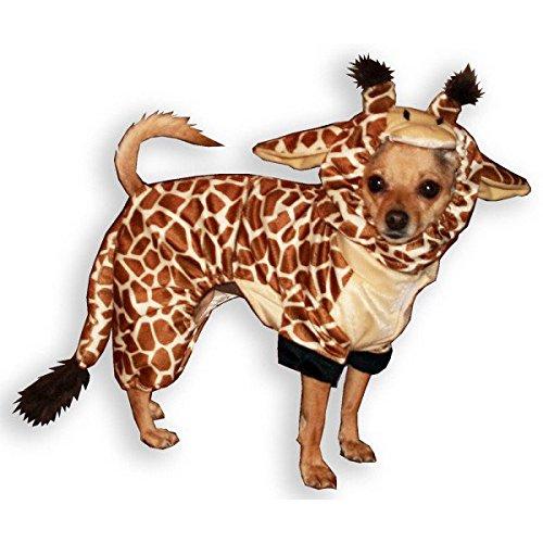 Hip Doggie Giraffe Dog Costume, Onesy Jumper, XL