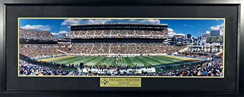 Pittsburgh Steelers Heinz Field Inaugural Game Panoramic (Deluxe) Framed from Sports Gallery Authenticated