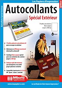 Autocollants sp cial ext rieur collectif high for Papier imprimante autocollant exterieur