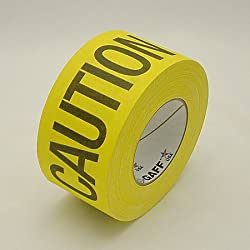 Pro Tapes Striped Pro-Gaff Gaffers Tape: 3 in. x 55 yds. (Yellow/Black CAUTION CABLE)