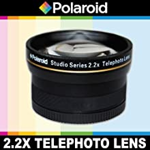 Polaroid Studio Series 22X High Definition Telephoto Lens Includes Lens Pouch and Cap Covers For The