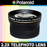 Polaroid Studio Series 2.2X High Definition Telephoto Lens, Includes Lens Pouch and Cap Covers For The Samsung NX-5, NX-10, NX-100, NX-200, NX20, NX210, NX300, NX1000, NX1100 Digital Cameras Which Has The (50-200mm, 60mm) Lens