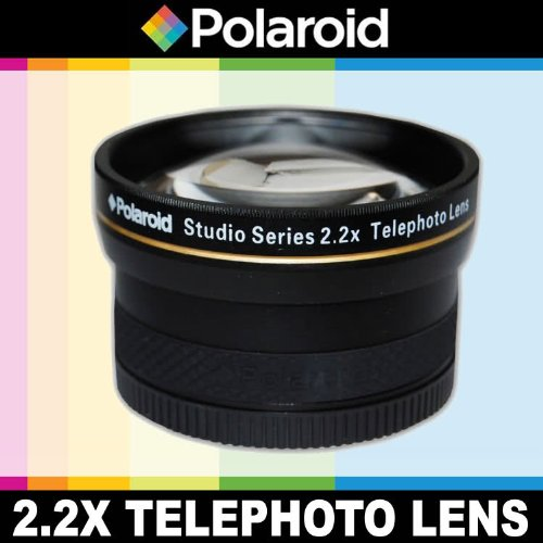 Polaroid Studio Series 2.2X High Definition Telephoto Lens, Includes Lens Pouch And Cap Covers For The Olympus Evolt E-30, E-300, E-330, E-410, E-420, E-450, E-500, E-510, E-520, E-600, E-620, E-1, E-3, E-5 Digital Slr Cameras Which Have Any Of These (14-