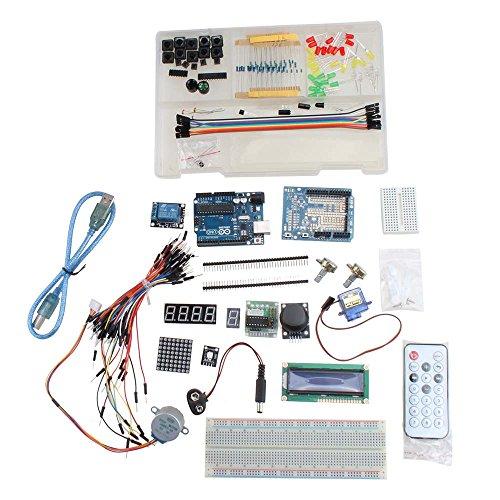 Agptek® Project Starter Kit For Arduino Uno R3 With 1602 Lcd Servo Dot Matrix Breadboard Led Resistor More Extra Leds, Jumper Wires, Resistors