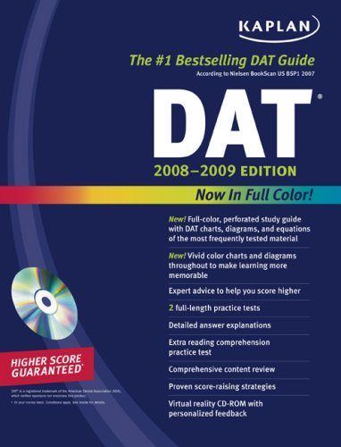 Kaplan DAT 2008 2009 Edition (Kaplan Dat (Dental Admission Test))