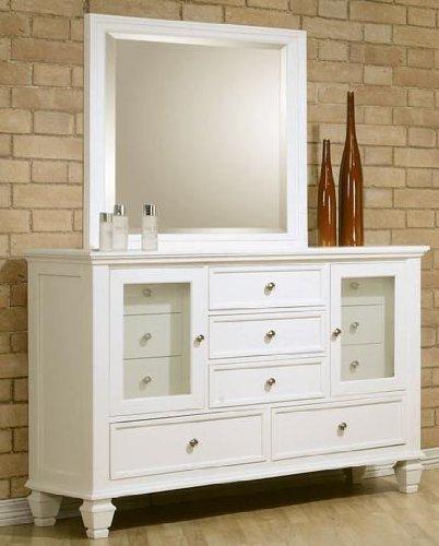 Sandy Beach White Dresser And Mirror Set - Coaster 201303Set