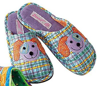 Image of Daniel Green Perky Pet Puppy Dog Slippers (B0006N310W)