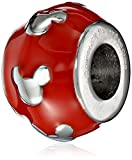 Disney Stainless Steel Mickey Red Enamel Bead Charm