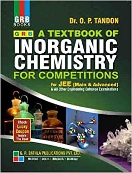 Image result for Inorganic Chemistry For IIT-JEE by O.P. Tandon