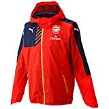 Puma Arsenal Rain Football Team Club Replica Jacket (with Hood) - High Risk Red/Black Iris, Medium