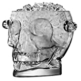 Final Touch Brain Freeze Skull Ice Bucket, Glass