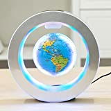 YANGHX Levitation Floating Globe 4inch Rotating Magnetic Mysteriously Suspended in Air World Map Home Decoration Crafts Fashion (Blue) (Color: Blue)