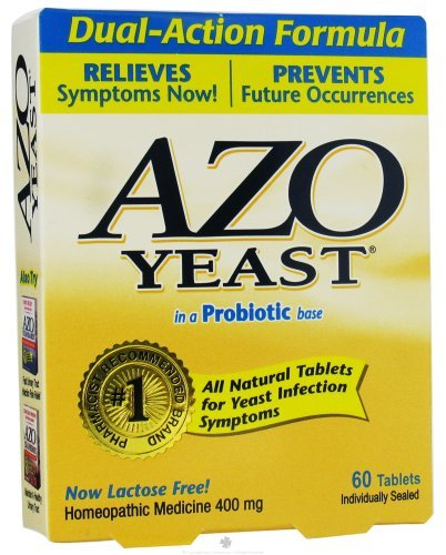 Azo Yeast Infection Prevention - 60 Tablets [Health and Beauty]