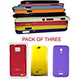 ( Pack Of Three ). Rich Finish, Light Weight Thinnest Wall New Housing Back Cover For Your Mobil : Samsung-Samsung...