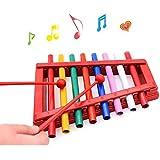 Happytime 出産祝い お誕生日プレゼントに人気 カラフル シロフォン おもちゃ 鉄琴 8音階 幼児 赤ちゃん 子ども 知育 楽器