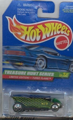 Hot Wheels 1997 753 LIMITED EDITION TURBO FLAME TREASURE HUNT SERIES 5 of 12 1:64 Scale Die-cast Collectible Car