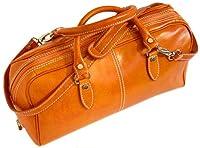 Floto Venezia Mini in Orange Leather - handbag, duffle bag, luggage