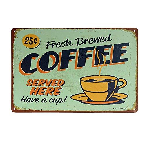 KING DO WAY COFFEE - Targa in metallo muro arredamento 20 * 30 cm (8 ''* 12'')