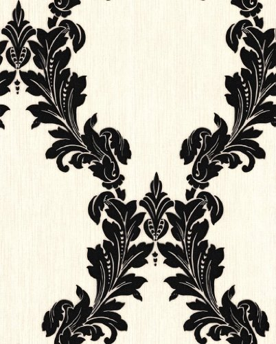 tapezieren kaufen vlies tapete regency black white. Black Bedroom Furniture Sets. Home Design Ideas
